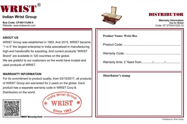 Indian Wrist Group Warranty Form - Products Of Wrist
